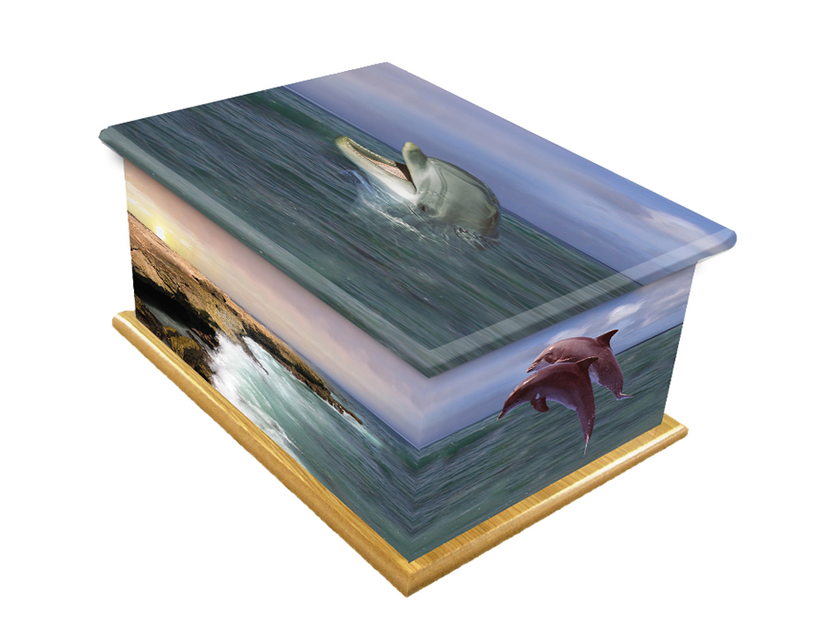 Personal Picture Casket- Dolphins