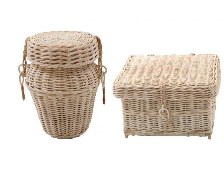 Natural Woven Caskets and Urns for ashes- Cane